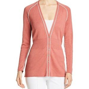 NWT Nic+zoe Tipped Button-front Cardigan M
